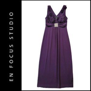 Enfocus Studio Womens Sleeveless  Long Dress 8P